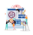 web designer services concept vector image