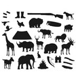 wild animals hunting hunter ammo equipment vector image vector image