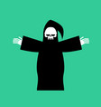 grim reaper isolated death in hood on white vector image