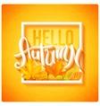 Hello autumn poster vector image