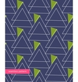 seamless pattern linear triangles forming vector image