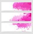 abstract art header set collection vector image vector image