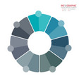 abstract element infographics 7 option design for vector image vector image