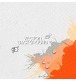 Abstract hand drawn spotted gray-orange background vector image