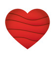abstract heart shape love concept made in layered vector image vector image