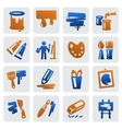 art icons vector image vector image