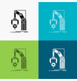 automation factory hand mechanism package icon vector image