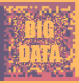 big data concept background vector image vector image