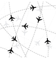 Black airlines silhouette vector image vector image