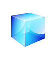 box blue glossy vector image vector image
