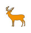 brown reindeer animal to merry christmas vector image