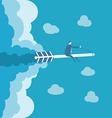 business man ride on arrow vector image vector image