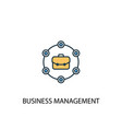 business management concept 2 colored line icon vector image vector image