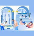 businesspeople at modern creative coworking office vector image