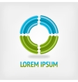 Circle logo design template in blue and green