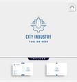 city gear logo industrial symbol design vector image