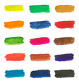 Colorful paint brushstrokes vector image vector image