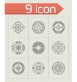 Compass icon set vector image vector image
