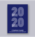 cover annual report numbers 2020 in thin lines vector image vector image