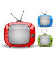 Cute tv vector image