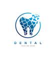 dental crack logo design templatecreative vector image