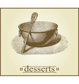 dessert cover design vector image vector image