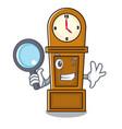 detective grandfather clock character cartoon vector image vector image
