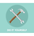 diy do it yourself icon with screwdriver and vector image vector image