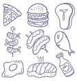 doodle of food various art vector image vector image