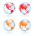 Earth globes set vector image vector image