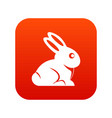 easter bunny icon digital red vector image vector image