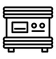 electric battery charger icon outline style vector image