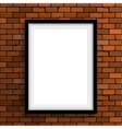 Empty frame on brown brick wall vector image vector image