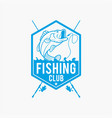 fishing fishing logo badge 7 vector image vector image