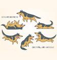 funny cute cartoon german shepherd dogs vector image
