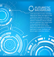 futuristic touch interface background vector image vector image