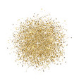 glitter background gold glitter splash on white vector image vector image