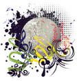 grunge silver disco ball vector image vector image