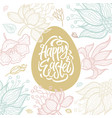 happy easter - modern celebration poster vector image