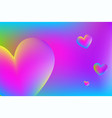 heart in neon colors valentines day liquid vector image