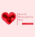 hemophilia world day poster emblem medical sign vector image vector image