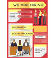 hiring job interviewed people on business vector image