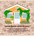 house is covered with ivy safe and cozy vector image