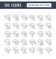line icons international day sport vector image