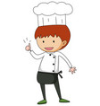 little chef cartoon character isolated vector image vector image