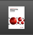 medical brochure cover template vector image