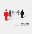 minimalist 3d people diagram template vector image vector image