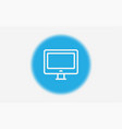 monitor icon sign symbol vector image vector image