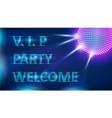 night club neon banner vector image