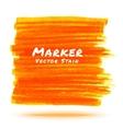 Orange Marker Stain vector image